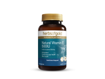 NATURAL VITAMIN E 500IU 50 CAPSULES by HERBS OF GOLD